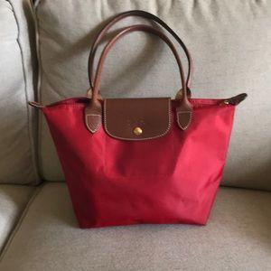 Longchamp medium tote RED